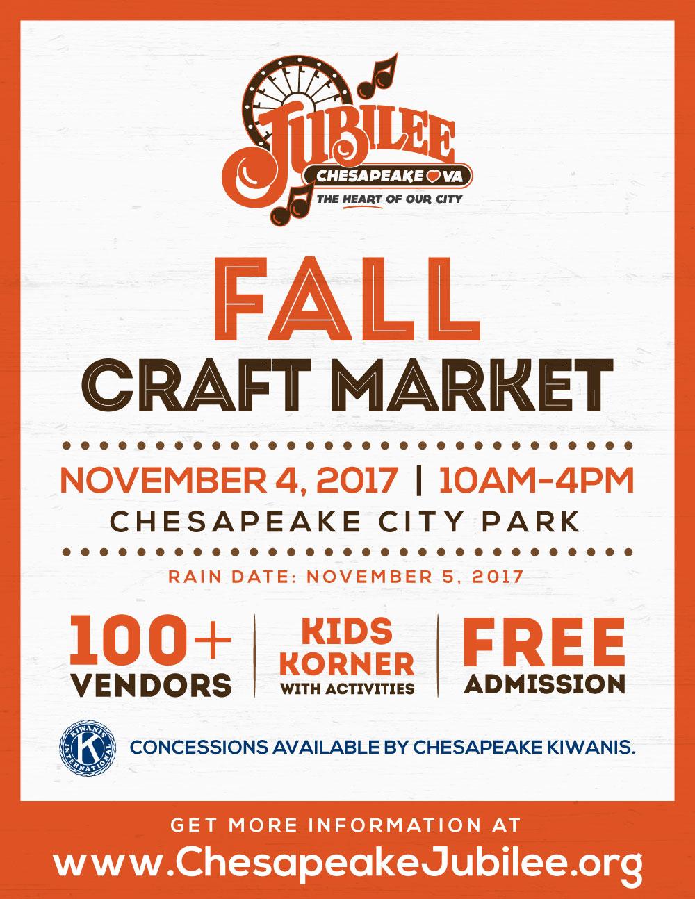 Chesapeake Jubilee Fall Craft Market